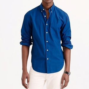 J. Crew Indigo Cotton Shirt